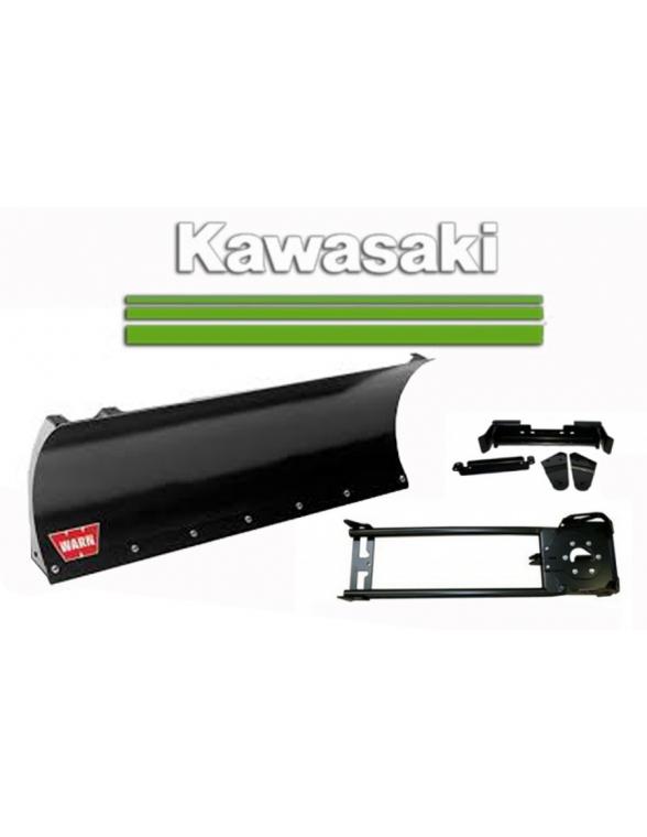 Kit complet de lame 127cm. pour quad Kawasaki fixation centrale