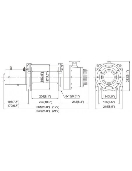 TREUIL industriel DV15 COMEUP 6804KG 12 volts