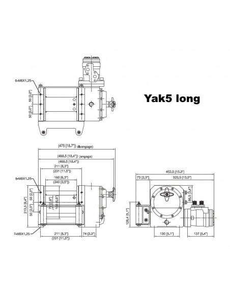 Treuil ComeUp YAK 5 Hydraulique 2300kg long