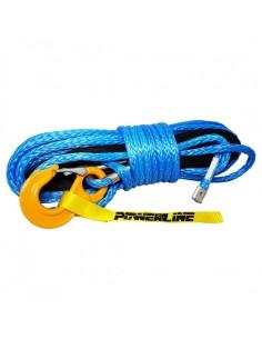 Corde synthétique diam. 10mm x 28m bleu avec crochet