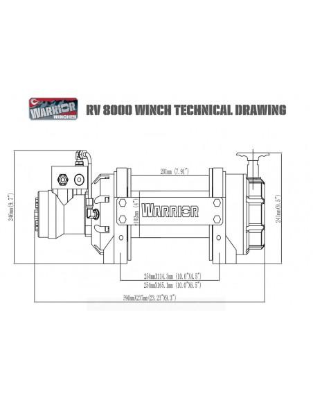 Treuil Hydraulique Industriel Warrior 8165kg