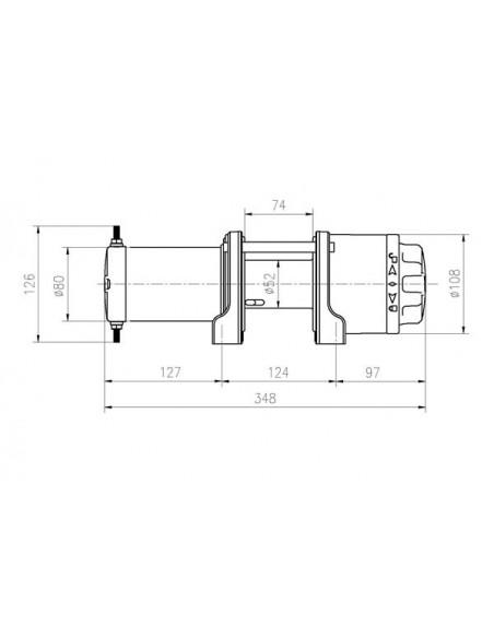 TREUIL T-max ATW PRO 12V 1588 kg